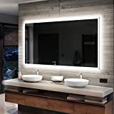 Artforma Badspiegel 140x70 cm mit LED Beleuchtung - Wählen Sie Zubehör - Individuell Nach Maß -...