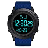 VECOLE Fitness Armband LED-Leuchtspiegel Wasserdicht Verstellbarer Wecker 12/24-Stunden-Anzeige...