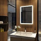 Meykoers Wandspiegel Badezimmerspiegel LED Badspiegel mit Beleuchtung 50x70x4,5cm mit...