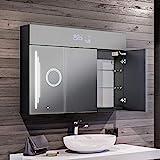 Artforma Spiegelschrank mit LED Beleuchtung 3-Türig anpassen (100 x 72 x 16,6 cm) | 17 Dekore |...