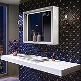 Artforma Spiegel mit LED Beleuchtung 80x60 cm mit Ablage und Rahmen   Bad Licht Spiegel Individuell...