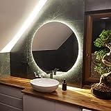 Artforma Rund Badspiegel mit LED Beleuchtung 100cm - Wählen Sie Zubehör - Individuell Nach Maß -...