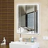 Badspiegel mit Beleuchtung,Badezimmerspiegel mit Beleuchtung, Beleuchtete Touch Control,5050 LED...