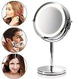 Medisana CM 840 runder Kosmetikspiegel - Tischspiegel mit LED-Beleuchtung und 5-facher...