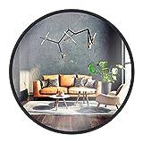 Gold&Chrome Wandspiegel, rund, mit Aluminiumrahmen | Mit Teflon beschichtet Spiegeloberfläche,...