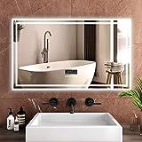Safeni Badspiegel Wandspiegel mit Beleuchtung 1000 * 600 * 35mm LED Badezimmerspiegel mit Bluetooth...