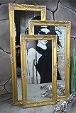 Livitat® Wandspiegel Spiegel Badspiegel barock antik Gold 120 x 60 cm LV9031