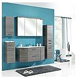 Pelipal - Alika 12 - Badmöbel-Set - 112 cm - Badset - 6-teilig mit Spiegelschrank, Glas-Waschtisch...