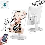 LED Bluetooth Schminkspiegel mit Touchscreen und 10-facher Vergrößerung, kabelloses Bluetooth +...