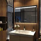 Meykoers LED Badspiegel mit Beleuchtung 100x70cm mit Touch-Schalter, Bluetooth Lautsprecher und...