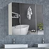 DICTAC spiegelschrank Bad Badezimmer spiegelschrank 70x15x60cm (BxTxH) badschrank mit Spiegel 70cm...
