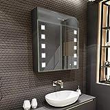 Artforma Spiegelschrank mit LED Beleuchtung 2-Türig anpassen (66 x 72 x 16,6 cm) | 17 Dekore |...