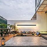 Moderne LED Terrasse wasserdicht Außenwandleuchten Wandlampe Außen Schwarz Wandleuchte Metall...