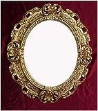 Lnxp WANDSPIEGEL Spiegel Oval in Gold REPRO 45x38 ANTIK BAROCK Rokoko Vintage REPLIKATE Renaissance...