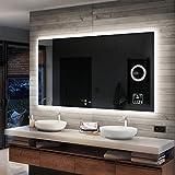 Artforma Badspiegel 120x80cm mit LED Beleuchtung - Wählen Sie Zubehör - Individuell Nach Maß -...