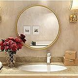 Wandspiegel,Badspiegel,Badezimmerspiegel, Nordic Eisen Wand Bad runden Spiegel, Kosmetikspiegel,...