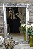 Livitat® Wandspiegel Spiegel Badspiegel barock antik Silber 90 x 60 cm LV9013